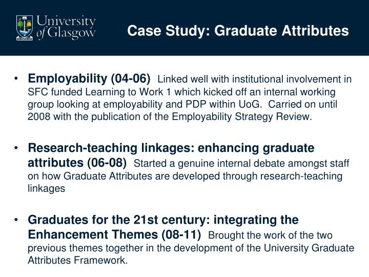 Case Study: Graduate Attributes