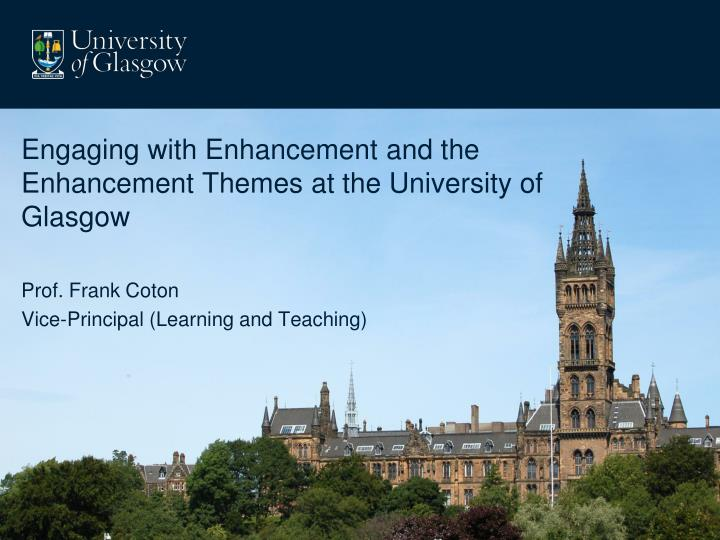 Engaging with Enhancement