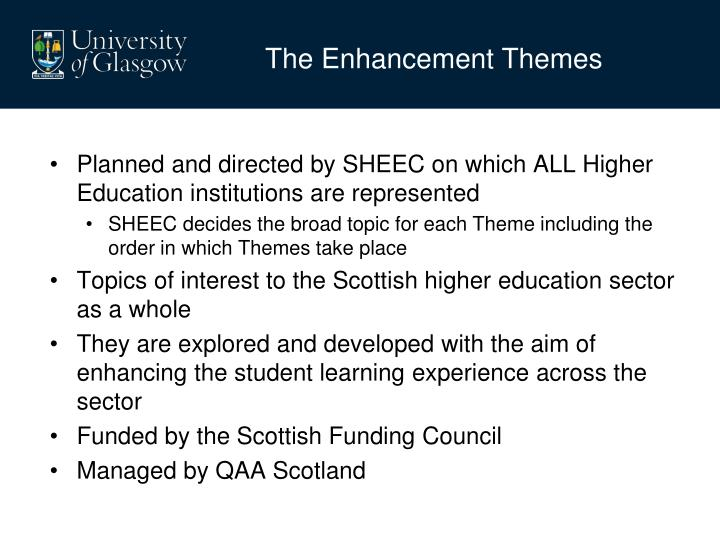 The Enhancement Themes