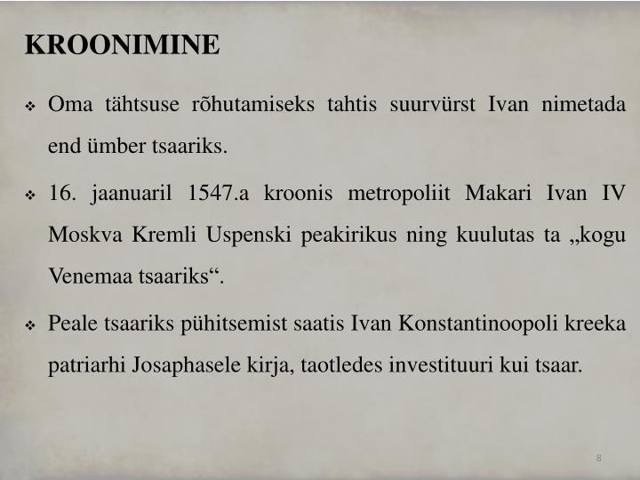 KROONIMINE