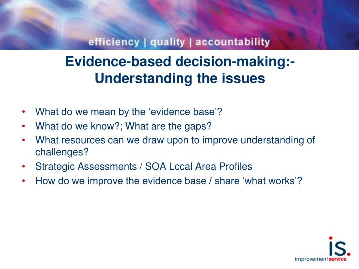 Evidence-based decision-making:-
