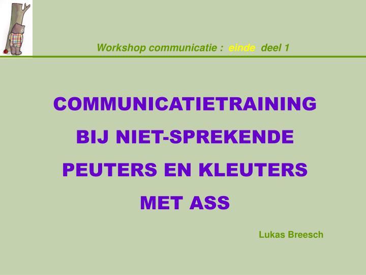 Workshop communicatie :