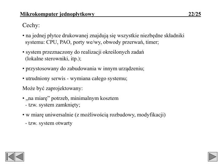 Cechy: