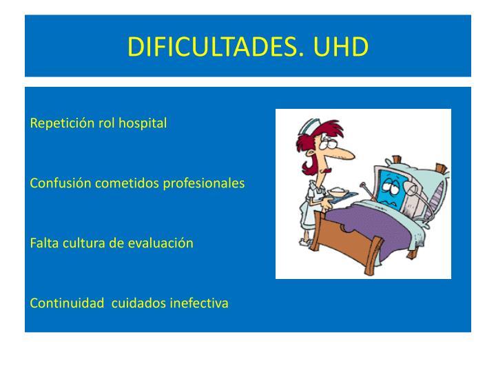 DIFICULTADES. UHD