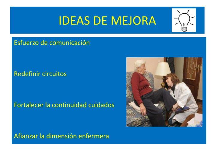IDEAS DE MEJORA
