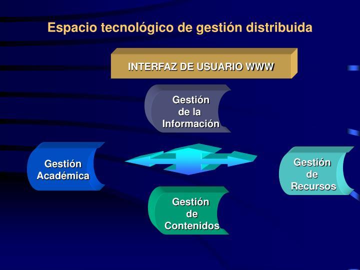 Espacio tecnológico de gestión distribuida