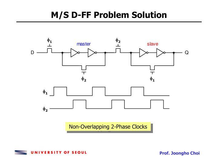 M/S D-FF Problem Solution