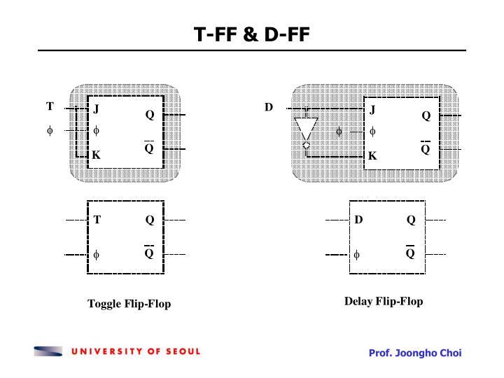 T-FF & D-FF