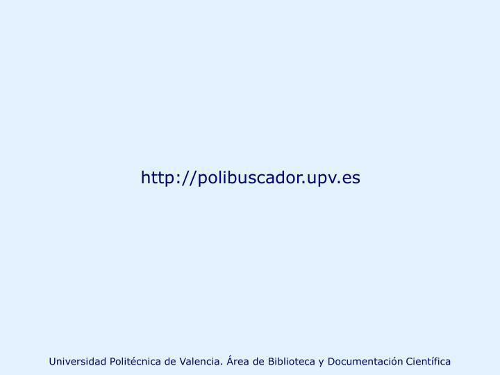 http://polibuscador.upv.es
