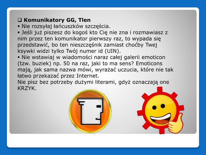 Komunikatory GG, Tlen