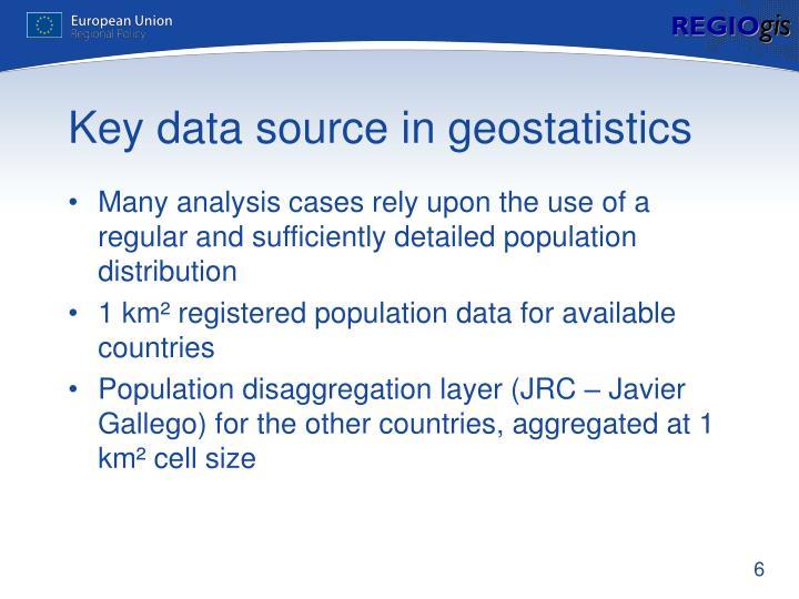 Key data source in geostatistics