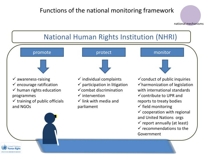 Functions of the national monitoring framework