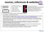 sources references websites