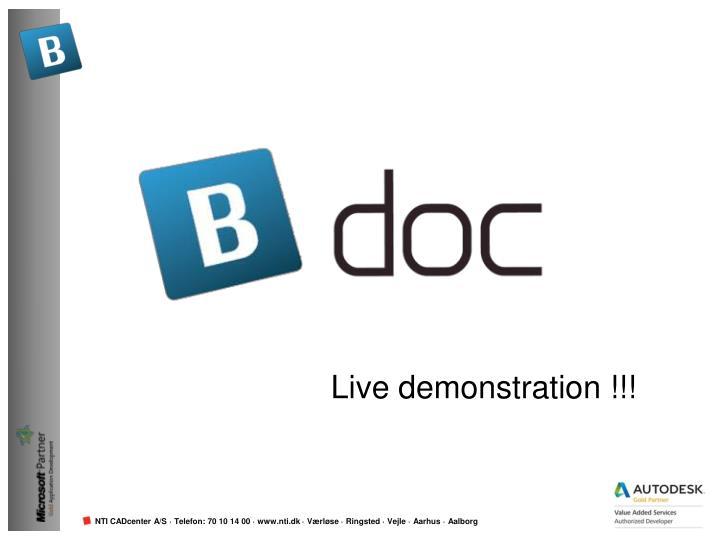 Live demonstration !!!