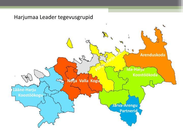 Harjumaa Leader tegevusgrupid