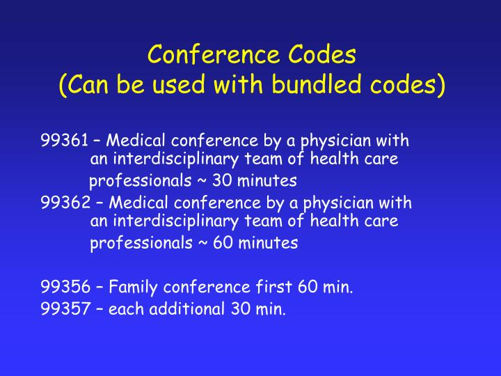 Conference Codes