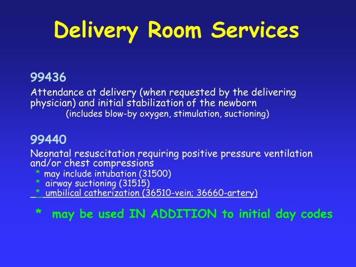 Delivery Room Services
