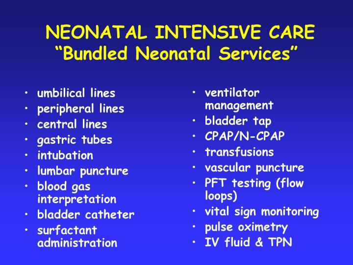 umbilical lines