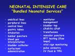 neonatal intensive care bundled neonatal services