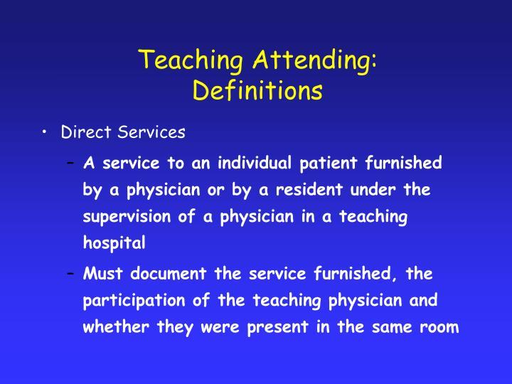Teaching Attending: