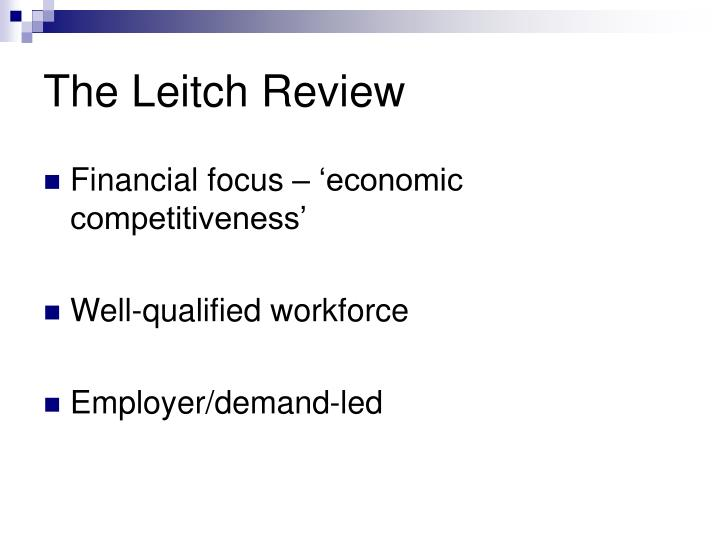 The Leitch Review