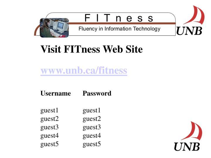 Visit FITness Web Site