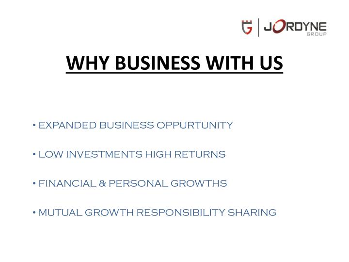 WHY BUSINESS WITH US