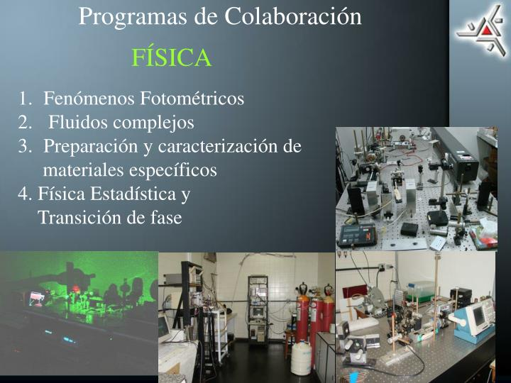 Programas de Colaboración