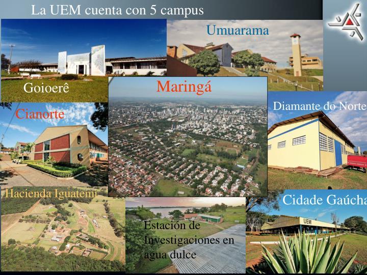 La UEM cuenta con 5 campus