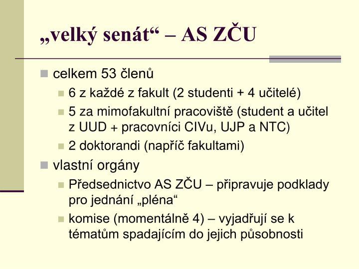 """""""velký senát"""" – AS ZČU"""