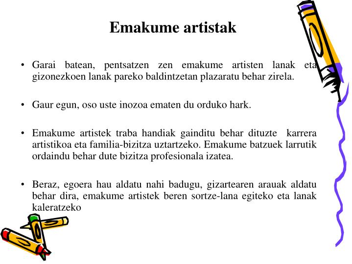 Emakume artistak