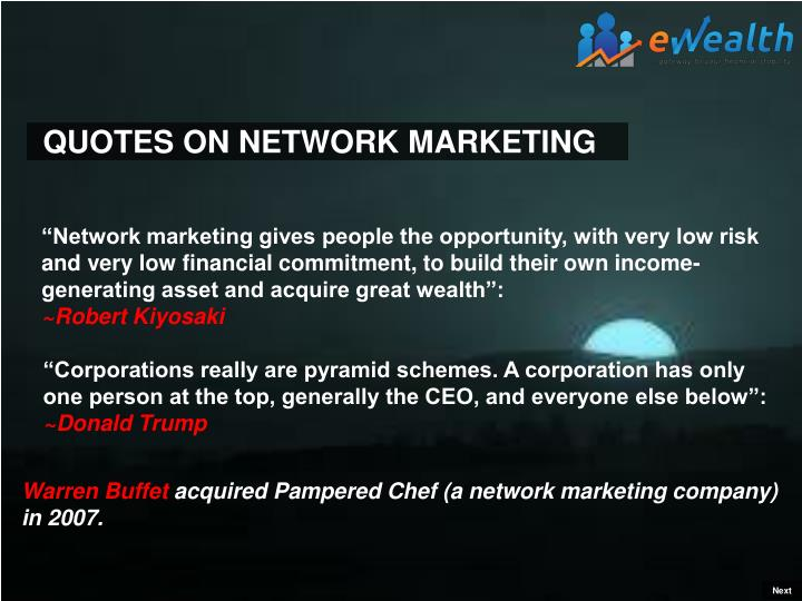QUOTES ON NETWORK MARKETING