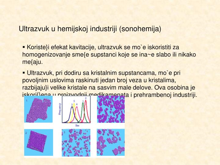 Ultrazvuk u hemijskoj industriji (sonohemija)