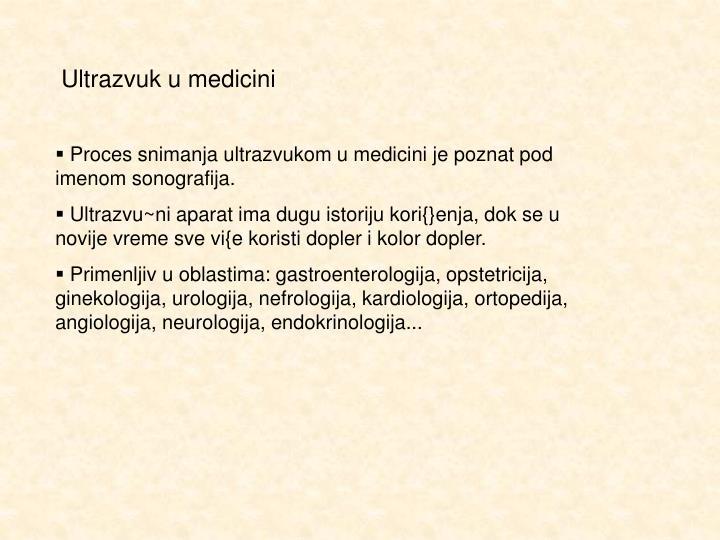 Ultrazvuk u medicini