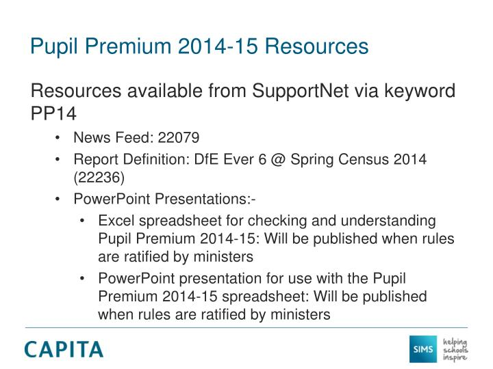 Pupil Premium 2014-15 Resources