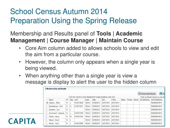 School Census Autumn 2014
