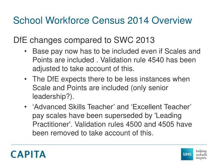 School Workforce Census 2014 Overview