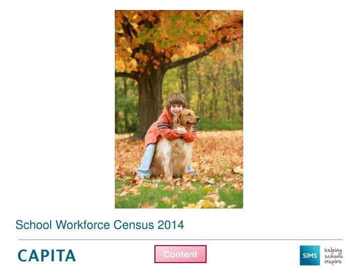 School Workforce Census 2014