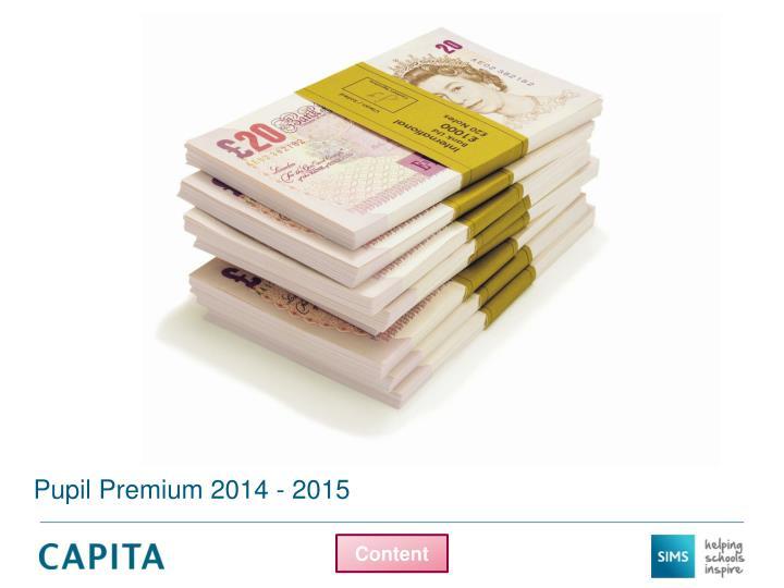 Pupil Premium 2014 - 2015