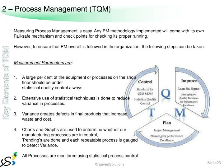 2 – Process Management (TQM)