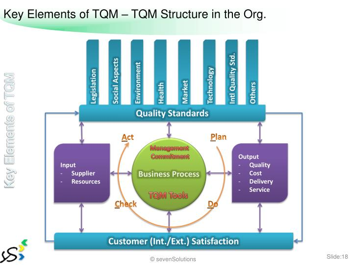 Key Elements of TQM – TQM Structure