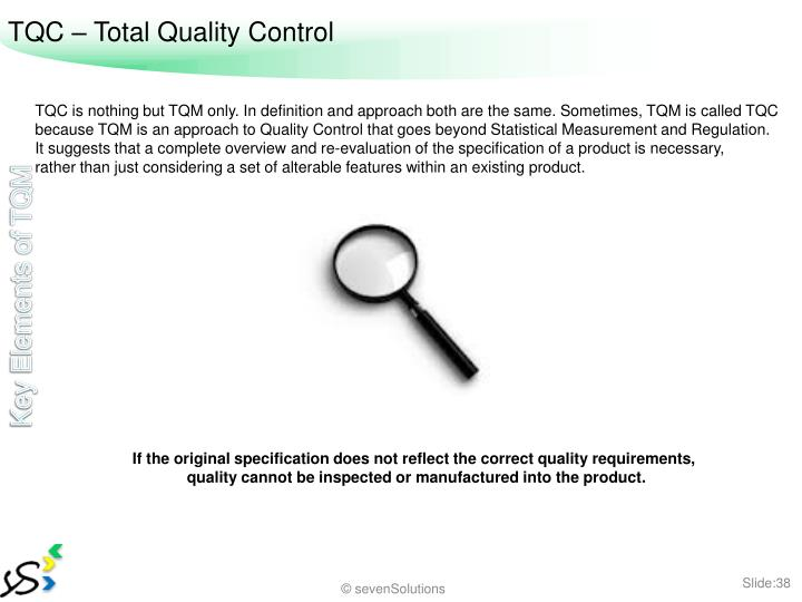 TQC – Total Quality Control