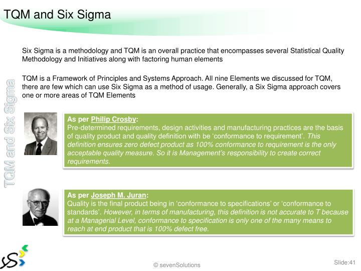 TQM and Six Sigma