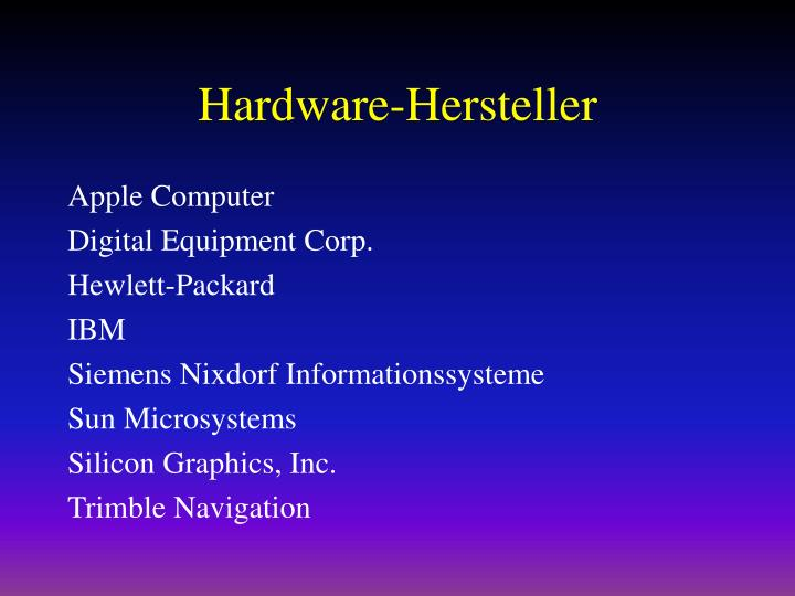Hardware-Hersteller