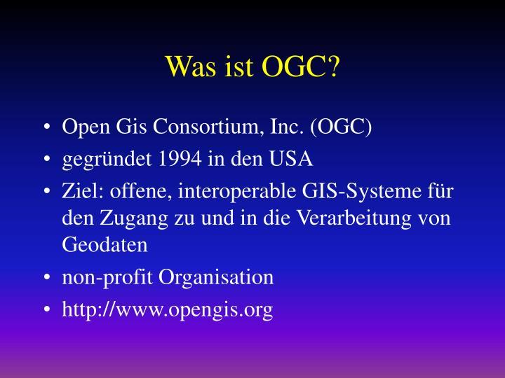 Was ist OGC?