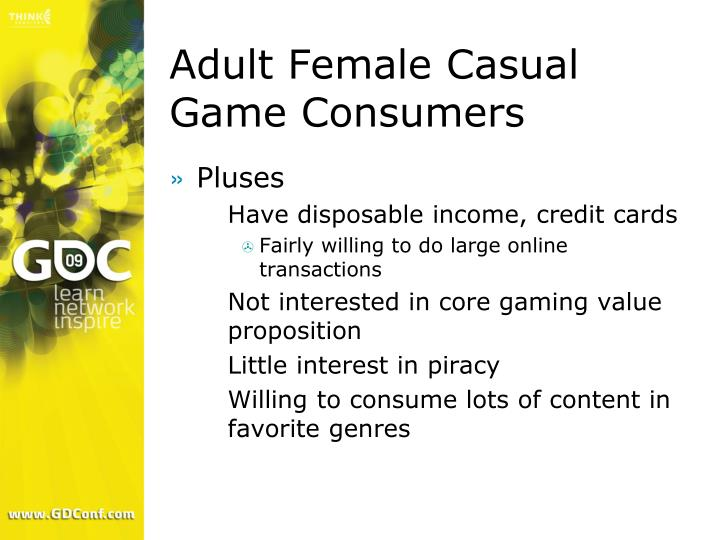 Adult Female Casual Game Consumers