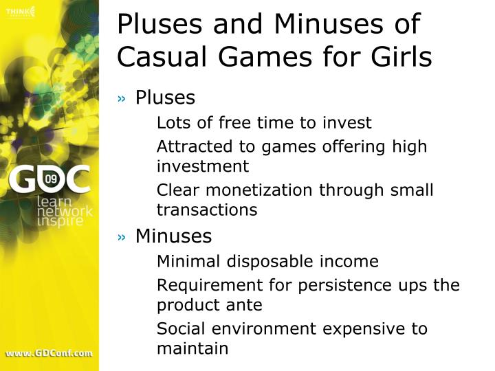 Pluses and Minuses of Casual Games for Girls