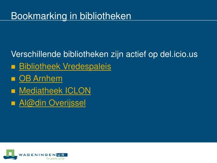 Bookmarking in bibliotheken
