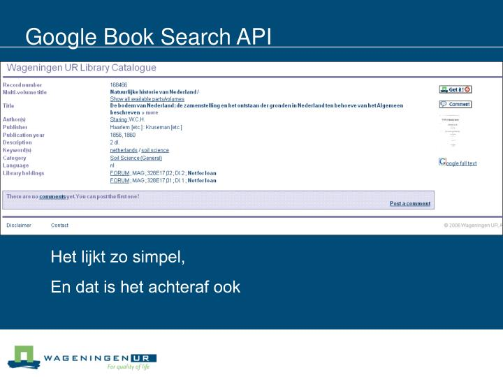 Google Book Search API