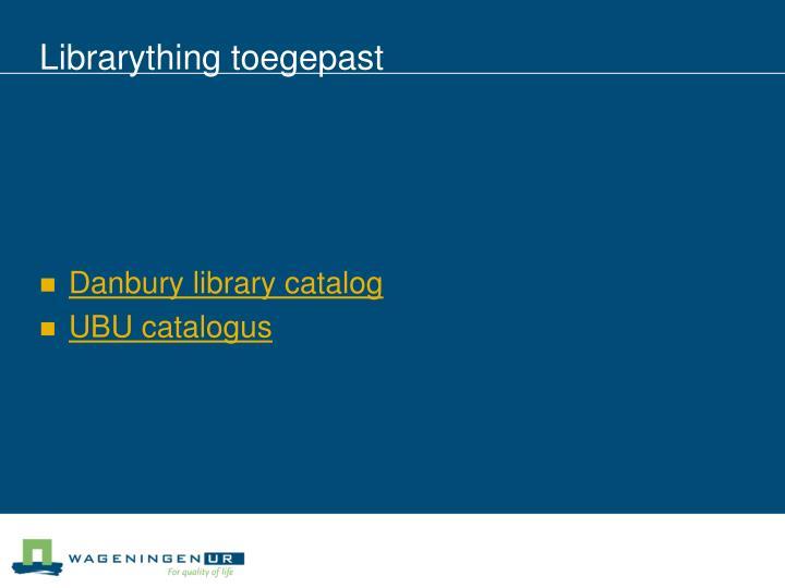Librarything toegepast